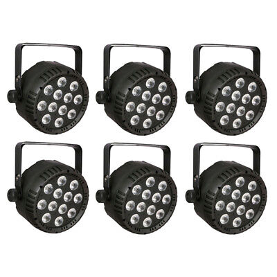 6x Showtec Club Par 12/4 RGBW LED 12x 8W Scheinwerfer Strahler DMX Par Light Set