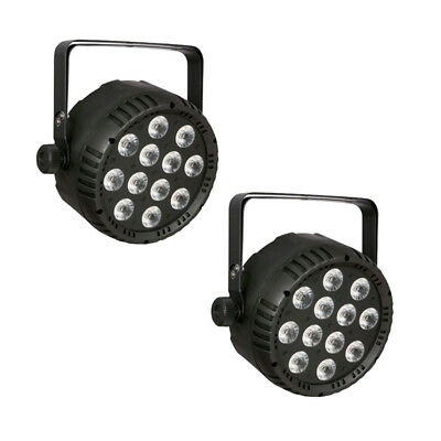2x Showtec Club Par 12/4 RGBW LED 12x 8W Scheinwerfer Strahler DMX Par Light Set