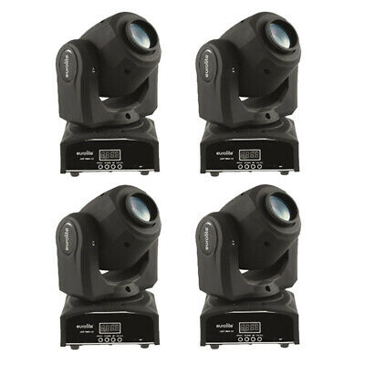 4x EUROLITE LED TMH-13 Moving-Head Spot Set