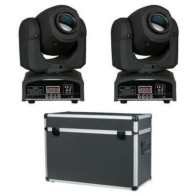 2x Showtec Kanjo Spot 10 + Case Licht Set Moving Head LED