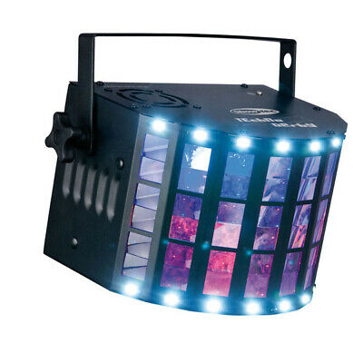 Showtec Techno Derby 4x 3W RGBW LED DMX Licht Strahlen Strobe  Effekt 2in1 IR FB