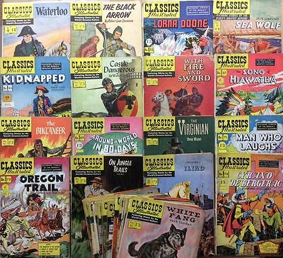 Classics Illustrated Massive Joblot. 38 x Golden Age issues 1953 to 1960.