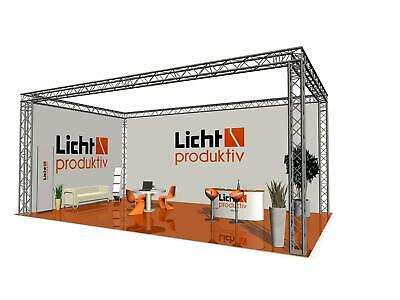 Prolyte Messestand 4-Punkt Truss 8 x 6 x 3 m Messe Alu Traversen Stand 48 m²