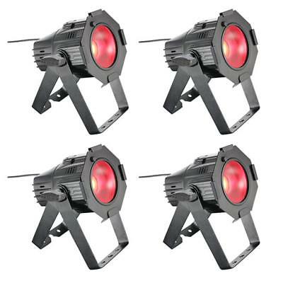 4x Cameo Studio Mini PAR COB 30W LED RGB Licht Scheinwerfer DMX Light schw Set