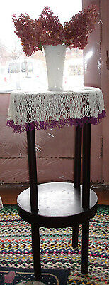 Vintage 1800s Candle Stand Unusual Surface Material