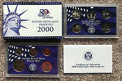 2000 United States US Mint 10pc Clad Proof Set