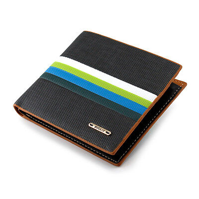 New Fashion Stylish Men's Leather Bifold Credit Cards Money Holder Slim Wallet