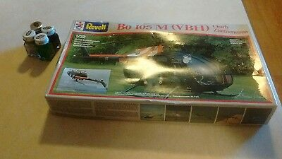 1/32 Revell Model 4432 Bo 105M Zimmermann,1985 W/ Paints!!!