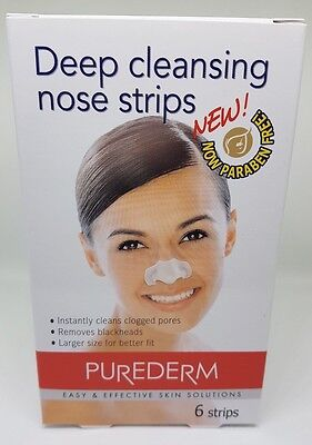 PUREDERM Deep Cleansing Nose Pore Strips NEW - Paraben Free (QTY 1,2,3)