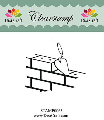 Dixi Crafts Clearstamp Timbre BRIQUES DCSTAMP0063