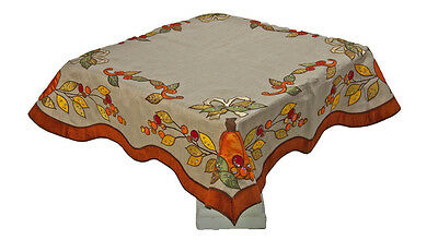 Thanksgiving Autumn Overlay Fall Tablecloth - Katherine's Collection 08-581000