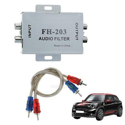 Car Stereo Head Unit Audio RCA Amplifier Noise Suppressor Reducer Filter