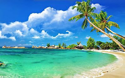 Beautiful Beach tropical 4k Picture wall art Beautiful poster Choose your Size