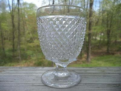 EAPG ca. 1850 Flint - Early Diamond Point Egg Cup - Excellent - Free Shipping