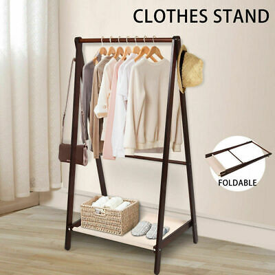 Wooden Garment Coat Clothes Stand Rack Bag Shoe Hanger Hat Jacket Holder