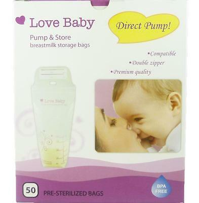 Breast Milk Bags Storage Direct Pump By Love Baby 50 Count New