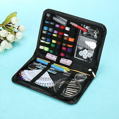 91pcs Home Travel Scissor Thread Needle Pins Sewing Kit Case Set Stitching Tool