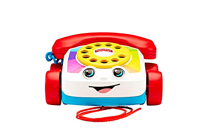 Pull Toy Fisher Price Chatter Telephone with Fun Ringing Sounds Spinning Dial
