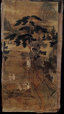 Unique Old Paper Chinese Hand Painting Landscape Collectible Marked KK022