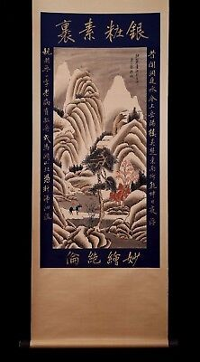Fine Unique Old Chinese Landscape Hand Scroll Painting Collectible Mark KK162