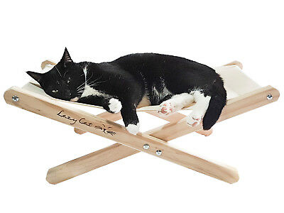 Classic Lazy Cat Hammock Pine Foldable Comfy Stylish Cat Kitten Bed Perch