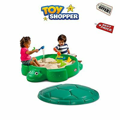 Little Tikes - Turtle Sandbox Kids Sandpit Green With Lid *For Children Play Toy