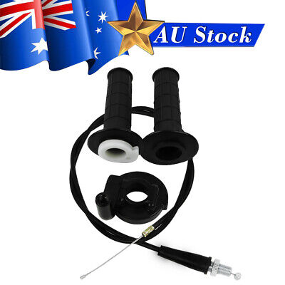 Black 22MM Throttle Grip Casing With Cable Handle Bar Grips Fit For Honda