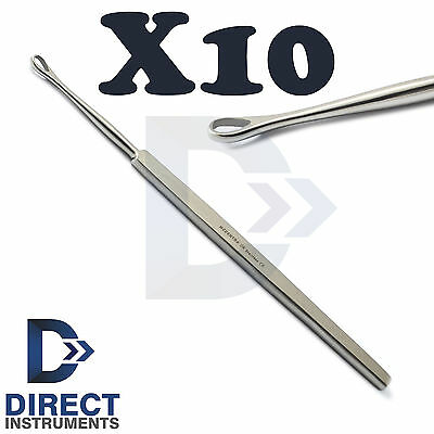 X10 Earpick Curette Loop Billeau Ear Pick Wax Cleaner Remover Earwax Removal New