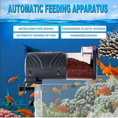 Automatic Fish Feeder Food Feeding Device With High Capacity Feeding Box GT