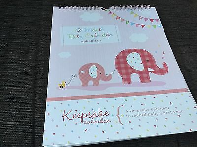 12 month Baby Calendar with stickers or Baby photo brag book NWOT unwanted gifts