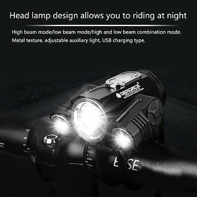 Adjustable Bicycle Headlight USB 3 Mode X3 T6 LED Bike Cycling Front Lamp GT