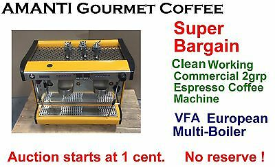 BARGAIN Clean Working Multi-Boiler 2grp Commercial Espresso Machine+Bonus AMANTI