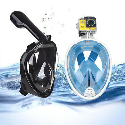 Swimming Diving Breath Full Face Mask Surface Snorkel Scuba for GoPro L/XL/S/M