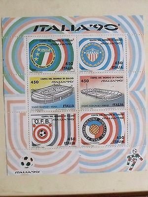 Italia 90 Framed Stamp Set