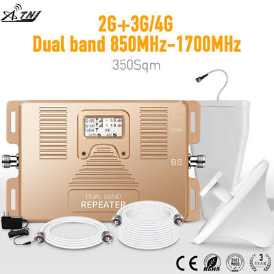 2G 3G 4G 850/AWS1700MHz dual band phone signal booster Verizon T-Mobile repeater
