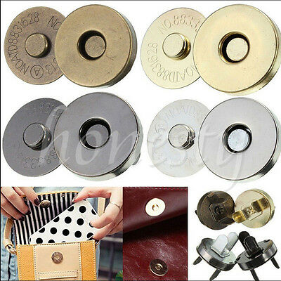 50/100pcs 14/18mm Magnetic Clasp Purse Snaps Closures Round Sewing Button Bag