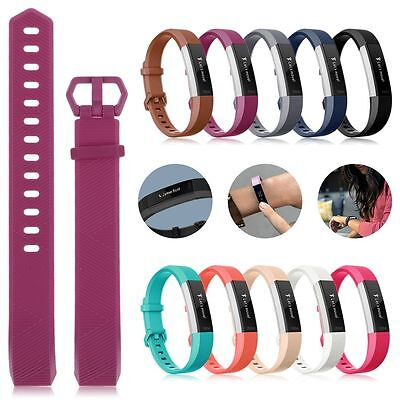 Replacement Silicone Wrist Band Strap With Buckle For Fitbit Alta HR