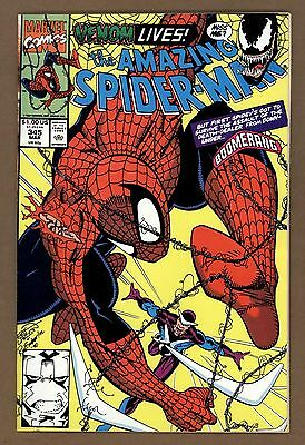 Amazing Spider-Man 345 NM 9.4  Carnage White Pages Marvel Comics 1990