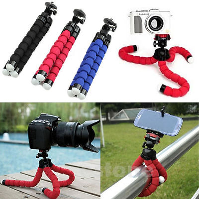 Mini Octopus Tripod Stand Mount Portable Flexible Sponge  & Holder iPhone Camera