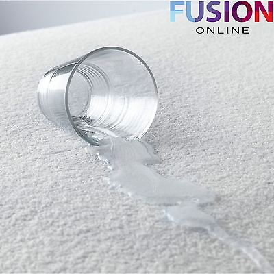 Waterproof Mattress Protector Cover Sheet Fitted Terry Towel Single Double King