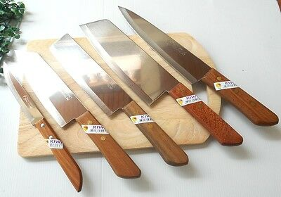 Kiwi kitchen chef knife vintage machete blade cutlery stainlesssteel wood handle