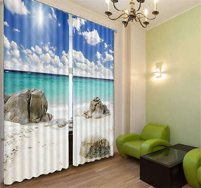 Cute Rocks Looked At 3D Curtain Blockout Photo Print Curtains Fabric kIds Window