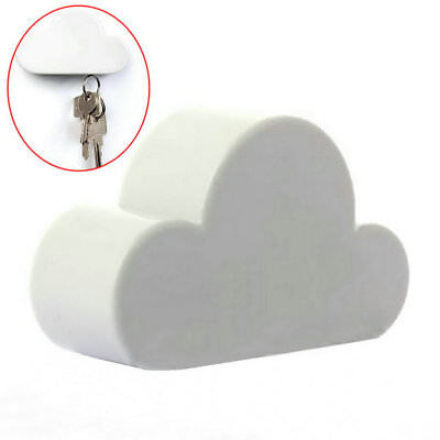 Fashion White Unique Novelty Cloud Shape Magnetic Key Holder Home Keychain DP
