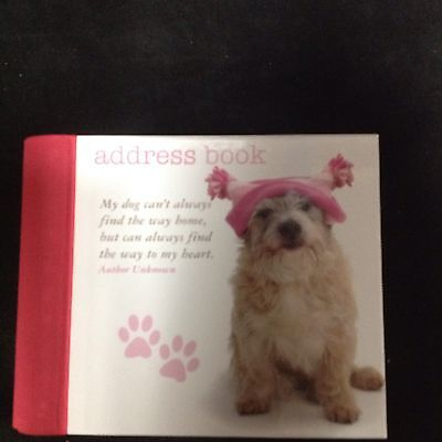 Address Book  With Dog Pictures