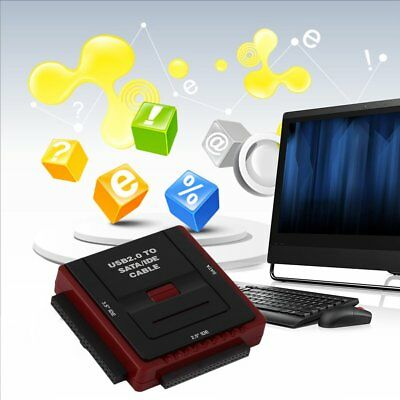 Square Multi Function USB 2.0 2.5/3.5 Inch SATA IDE CD-Rom HDD Dock Station DP