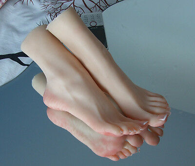 NEW Quality Realistic Silicone Female Foot Shoes Displays Mannequin Foot