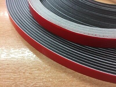 Self adhesive magnetic tape/strip 2 part per metre, double glazing fixing 12mm