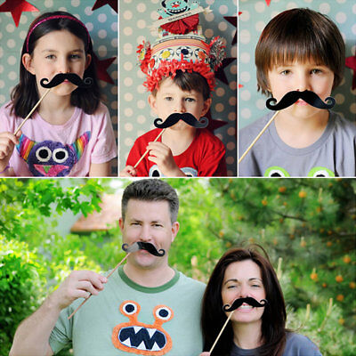 58PCS/Set Colorful Props On A Stick Mustache Photo Booth For Fun Wedding DP