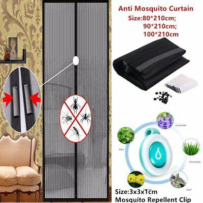 Mesh Door Magic Curtain Magnetic Snap Fly Bug Insect Mosquito Screen Net Guard P