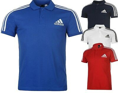 Adidas New Man's 3 Stripes Logo Polo Shirt All Size S M L XL XXL